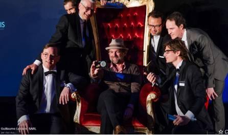 Ici notre trône baroque pour une soirée de remise de prix.